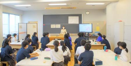 「職業人の話を聞く会」でお話をしました ~中学生のキャリア教育~